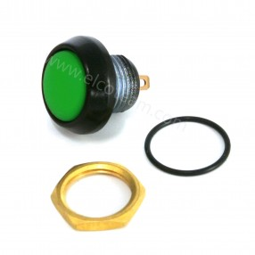 Pulsante stagno IP67 Normalmente Aperto colore verde