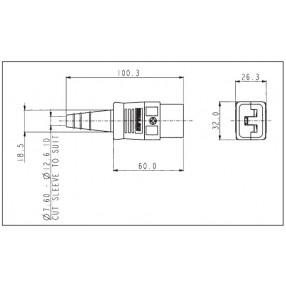 Bulgin PX599 Connettore IEC 16A Femmina Volante