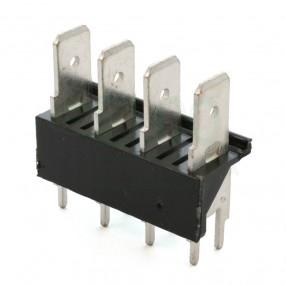 Stelvio CQS/B4/6.3 Connettore a Faston 4 poli da PCB passo 7,62 mm