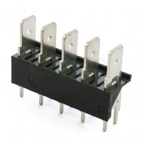 Stelvio CQS/B5/6.3 Connettore a Faston 5 poli da PCB passo 7,62 mm
