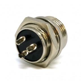 Connettore Microfonico Maschio da Pannello 3 Poli 04/05621-00