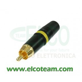 Spina RCA Neutrik NYS373 Giallo