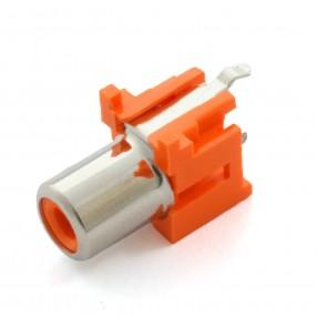 Presa RCA verticale da PCB colore Arancio