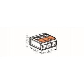 Wago 221-413 Morsetto di Giunzione per 3 conduttori