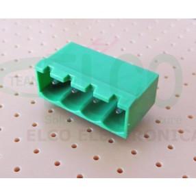 Connettore Maschio 4 poli passo 5mm STELVIO CPM SQ