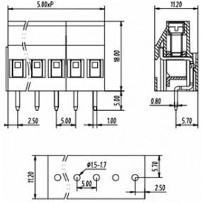 Morsetti Tianli Serie TL212V - Dimensioni