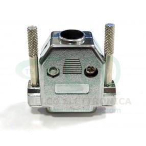 Cover per connettore D-Sub 15 poli schermato con viti lunghe (connettore non compreso)