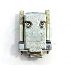 Cover per connettore D-Sub 9 poli schermato con viti lunghe (connettore non compreso)