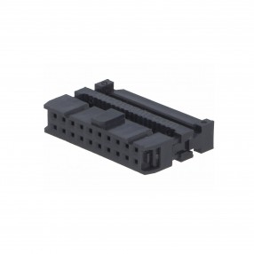 Connettore IDC Femmina 20 poli passo 2,54 mm per Cavo Flat Connfly