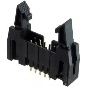 Connettore Maschio 10 poli da PCB passo 2,54 mm per prese IDC con Bloccaggio