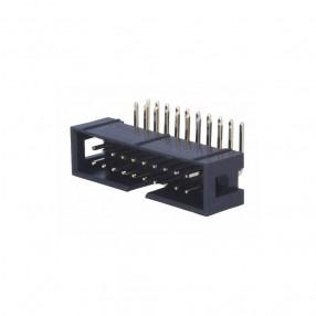 Connettore Maschio 20 poli Orizzontale 90° da PCB passo 2,54 mm per prese IDC