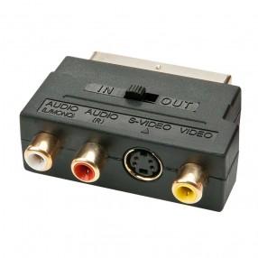 Lindy 35628 Adattatore da SCART a S-Video + 3 RCA