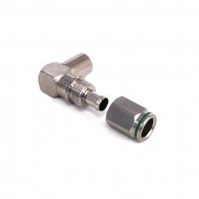Spina TV IEC volante angolata per cavo Ø 6,8 mm serie Quick MicroTek