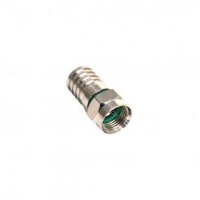 Connettore F a crimpare per cavo 6,8 mm serie MR MicroTek