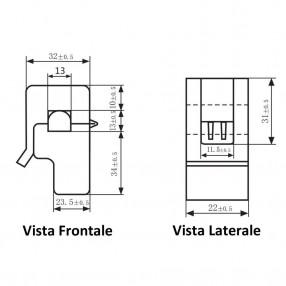 SCT013 Sensore di Corrente non Invasivo 30A/1V - Dimensioni