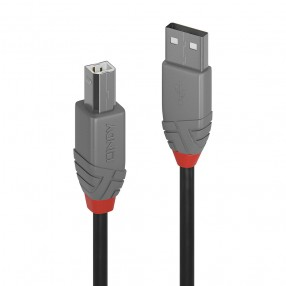 Cavo USB 2.0 Tipo A a B Anthra Line, 1m