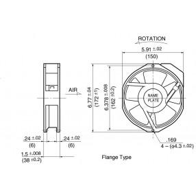 NMB 5915PC-12T-B30 Ventilatore - Dimensioni