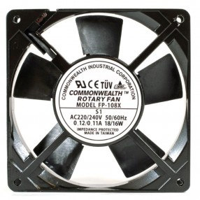 Commonwealth FP-108X S1 Ventilatore 120X120x25 230VAC su Bronzina