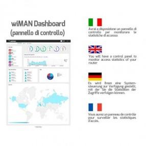 wiMAN Social Wi-Fi Router 4 porte n/g/b, 2 Antenne, 300Mbps Wireless N
