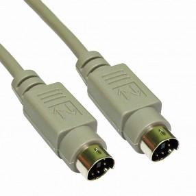 Cavo PS/2 maschio - maschio 5 metri con connettori 6 poli mini-DIN