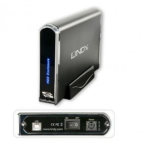 Lindy 42706 Astuccio esterno SATA & IDE da 3.5 USB 2.0