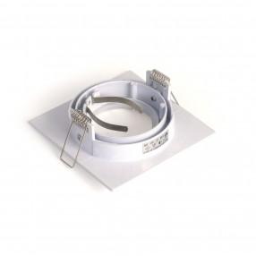 Ghiera portalampada quadrata orientabile colore bianco per lampade MR16