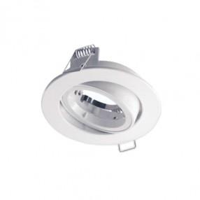 Ghiera portalampada rotonda orientabile colore bianco per lampade MR16