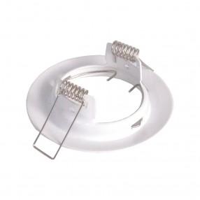 Ghiera portalampada rotonda colore bianco per lampade MR16