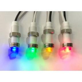 Spia Luminosa a Led 230V colore Giallo Ø6mm Slim CM/06