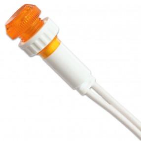 Lampada Spia Luminosa Arancione Diametro 10mm 230VAC con Fissaggio a Vite