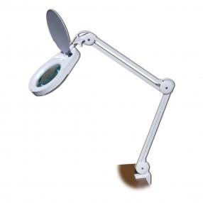 Lampada a led con lente 5 diottrie e braccio a pantografo