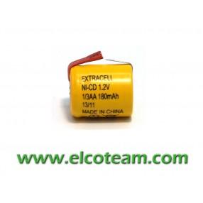 Batteria 1/3 AA 180 mAh Ni-Cd lamelle a saldare