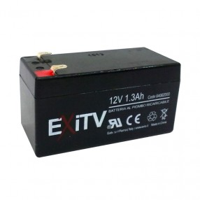 Batteria ermetica al piombo 12V 1,3 Ah Exitv