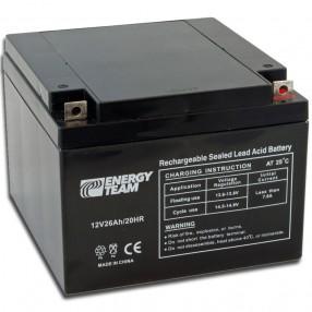 Batteria ermetica al piombo 12V 26Ah EnergyTeam ET12-26