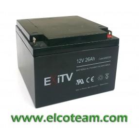 Batteria ermetica al piombo 12V 26Ah EXITV
