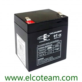 Batteria ermetica al piombo 12V 5,2Ah EnergyTeam