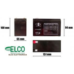 Batteria ermetica al piombo 12V 7,2Ah ENERGYTEAM - Dimensioni