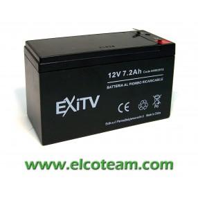 Batteria ermetica al Piombo 12V 7,2Ah Exitv