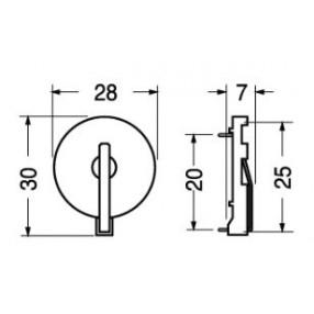 Portabatteria per pile a bottone CR2430