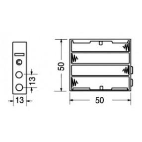 Portabatteria per 4 ministilo AAA