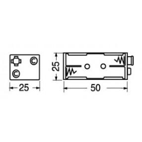 Portabatteria per 4 ministilo AAA 2-2