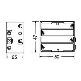 Portabatteria per 8 ministilo AAA 4-4