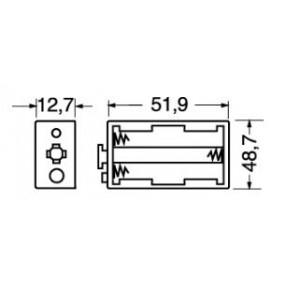 Portabatteria per 3 stilo AA