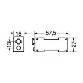 Portabatteria per 2 stilo AA