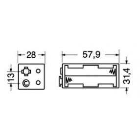 Portabatteria per 4 stilo AA 2-2