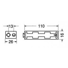 Portabatteria per 4 stilo AA in linea