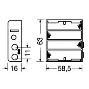Portabatteria per 4 stilo AA