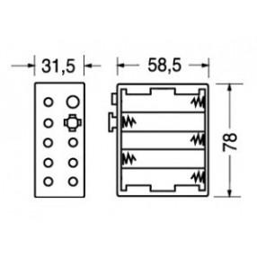 Portabatteria per 10 stilo AA 5-5