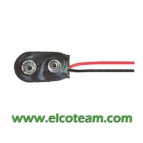 Clip per batteria a transistor 9V 80mm