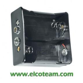 Portabatteria per 2 torcia D